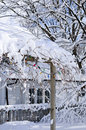 Front Yard Of A House In Winter Stock Image - 6614981