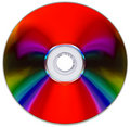 Compact Disk On White Royalty Free Stock Photography - 6618487