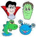 Monster Heads Collection Stock Image - 6619671