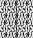 Vector Modern Seamless Sacred Geometry Pattern Hexagon, Black And White Abstract Stock Images - 66102034