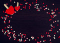 Valentines Day Background With Hearts Stock Photography - 66107052