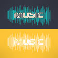 Vector Music Stylish Background With Equalizer. Cool Tshirt Design Royalty Free Stock Photo - 66113875