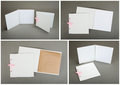 Collection Of White Cards Over Gray Background Stock Photos - 66125193