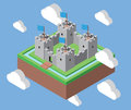 Isometric Castle In The Clouds Royalty Free Stock Images - 66144509