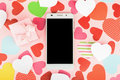 Smartphone Mock Up Template For Valentine S Day With Heart Shape Royalty Free Stock Images - 66150709
