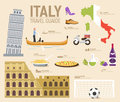 Country Italy Travel Vacation Guide Of Goods, Places And Features. Set Of Architecture, Fashion, People, Items, Nature Royalty Free Stock Image - 66166796