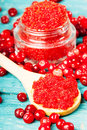 Homemade Cranberry Sugar Scrub On A Wooden Background Royalty Free Stock Photography - 66180707