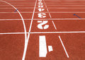Running Track With Numbers. Royalty Free Stock Images - 66184409