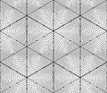 Contrast Black And White Symmetric Seamless Pattern With Interwe Stock Photos - 66187573