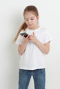 Kid And Mobile Phone Royalty Free Stock Image - 66199296