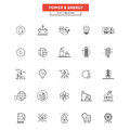 Flat Line  Icons- Power And Energy Stock Photography - 66201802