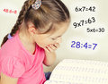The Girl Tired To Solve The Examples In Mathematics Royalty Free Stock Photo - 66212585