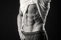 Muscular Man On A Dark Background Royalty Free Stock Photos - 66252038