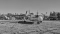 Panoramic View Of Old Soviet Aircraft An-24 Antonov Royalty Free Stock Photography - 66256357