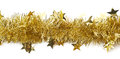 Line Of A Tinsel Garland Isolated Stock Photography - 66269972