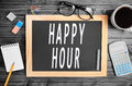 Happy Hour Words Royalty Free Stock Image - 66279136