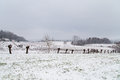 Italian Fields Covered By Snow Stock Photography - 66284672