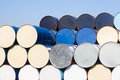 Oil Barrels At Oil Refinery Area Royalty Free Stock Image - 66284786