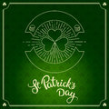 Label In Linear Style And Original Lettering St. Patricks Day Royalty Free Stock Photos - 66285728