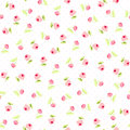 Seamless Floral Pattern With Pink Roses Stock Photo - 66291490