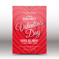 Vector Valentines Day Night Party Flyer Stock Photography - 66313492