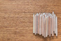 Pile Of Wooden Pencils Lying On The Desk. Background For Office Themes. Stock Photography - 66313872