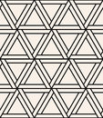 Vector Modern Seamless Sacred Geometry Pattern Hexagon, Black And White Abstract Stock Images - 66316794