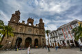 Cathedral Of Santa Ana (Holy Cathedral-Basilica Of The Canaries) In Las Palmas, View From The Main Square Of Vegueta Stock Photos - 66330293