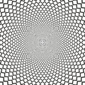 Vector Optical Illusion Sharp Lines Black And White Background Royalty Free Stock Photos - 66341348