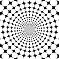 Optical Illusion Zoom Black And White Abstract Background Stock Images - 66342874