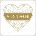 Heart Luxury Logo Template In Vintage Style Royalty Free Stock Photos - 66345268