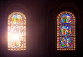 Two Stained Glass Windows Royalty Free Stock Photos - 66362968