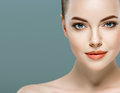 Beauty Woman Face Portrait. Beautiful Model Girl With Perfect Fresh Clean Skin. Royalty Free Stock Photography - 66363327