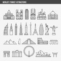 Flat Line Design Style Vector Illustration Icons Set Royalty Free Stock Photography - 66364687