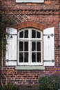 Cottage Window Shutters Royalty Free Stock Photo - 66368095