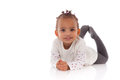 Portrait Of Little African American Little Girl Lying Down On Th Royalty Free Stock Photography - 66374207