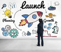 Launch Start Up New Business Begin Concept Royalty Free Stock Images - 66386109