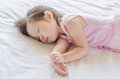 Girl Sleeping On Bed At Day Time Royalty Free Stock Image - 66388826