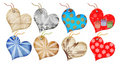 Christmas Gift Tags In The Form Of Heart. Royalty Free Stock Image - 6649216
