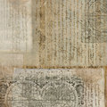 Vintage Antique Text Paper Background Royalty Free Stock Photos - 6649548