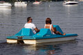 Senior Couple On Pedalo Also Called Pedal Boat Stock Image - 66407391