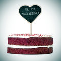 Cake With The Text Be My Valentine, Vignetted Stock Photos - 66410203