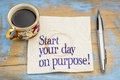 Start Your Day On Purpose! Stock Photos - 66420033