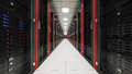 Inside The Long Server Room Tunnel Royalty Free Stock Photos - 66450198