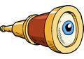 Spyglass With Eye Stock Photos - 66462963
