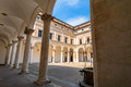Ducal Palace Courtyard In Urbino, Italy Stock Image - 66469551