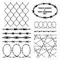 Fence Barbed And Wire Barbwire Set Royalty Free Stock Photos - 66485908