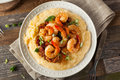 Homemade Shrimp And Grits Stock Image - 66490191