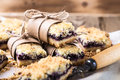 Blueberries Crumble Bars Royalty Free Stock Images - 66500679