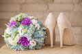 Wedding Shoes On The Gatherings Stock Photos - 66505173